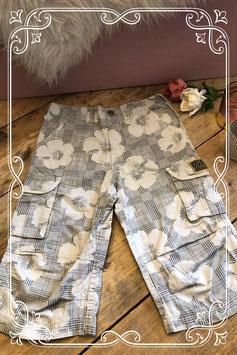 Grijze broek met bloemenprint van Dognose - Maat 146