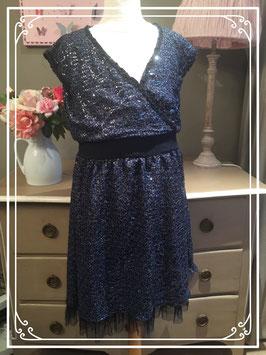 Nieuw: donkerblauwe jurk van Europe Girls - maat 176