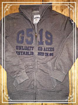 Donkergrijs sweatervest van Ravagio - maat 170