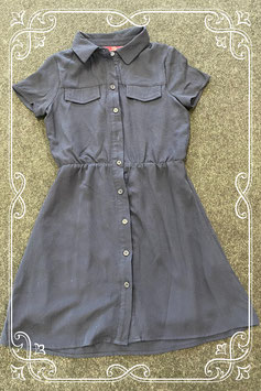 Lange donkerblauwe blouse/jurk van YD maat 140
