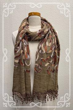 Leuke sjaal in mooie bruintinten voor dames