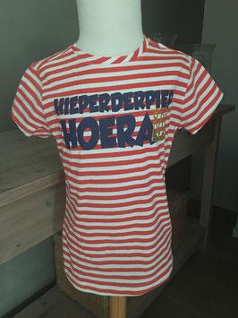 Feestelijk en fris gestreept t-shirt - maat 122/128