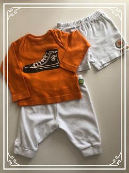 Oranje shirt met witte broeken - Maat 68