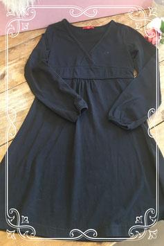Zwarte jurk met lange mouw van EDC - Maat 152-158