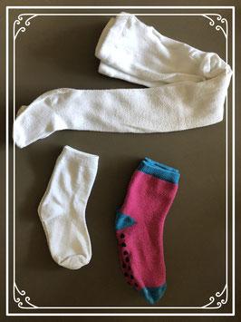 Witte Maillot met sokken - maat 86-92