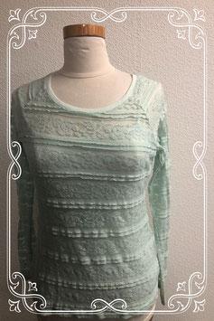 Mintgroen shirt met hemdje van Yessica maat XS