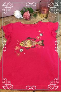 Hardroze t-shirt - maat 122