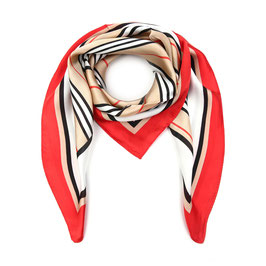 Nieuw: Sunset Fashion - Vierkant zomersjaaltje - Rood