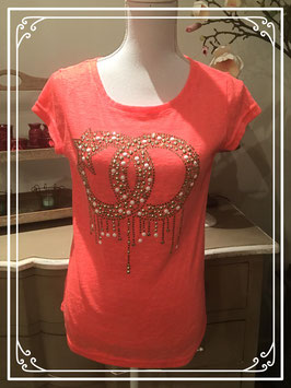 Fel oranje-roze T-shirt van so Sweet - maat M-L