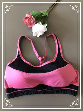 Sport BH roze/zwart - Maat L