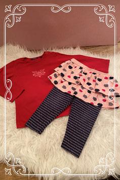 Combinatie setje van Mexx shirt en Bampidano legging met rokje - Maat 86