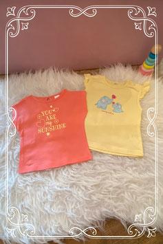 2 t-shirts van Baby club - maat 68