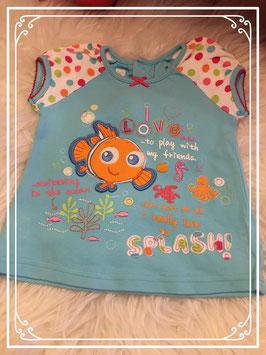 Fleurig zomer shirt merk Disney - maat 62