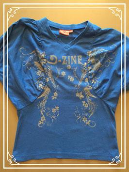 Blauw shirt van D-zine - maat 152-158