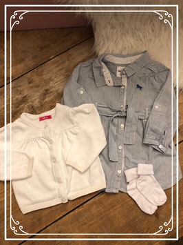 Net setje met jurkje en vestje van H&M en HEMA - Maat 68