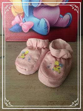 Lichtroze babyslofjes van Winnie the Pooh - Maat 14/17