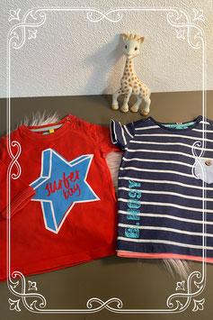 Rode trui van O'Chillie en blauw shirt van B-Nosy maat 74