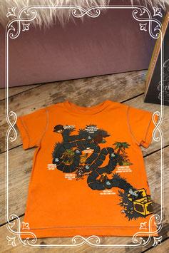 Oranje T-shirt van de H&M - Maat 86