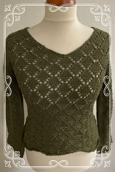 Nieuw! Khaki kleurige trui van Miss Etam in maat M