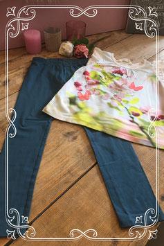 2 delige kledingset T-shirt van de H&M met blauw broekje (merkloos) - Maat 122/128
