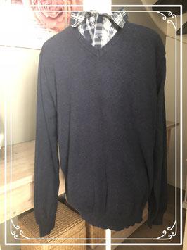 NIEUW Donkerblauwe trui met kraag merk Cedar Wood State - maat XXL