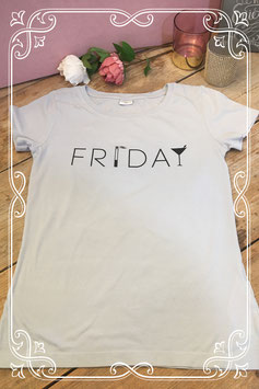 Lichtblauw t-shirt van Jacqueline de Yong by Only - maat s
