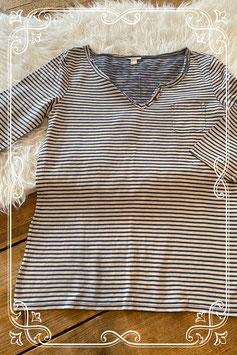 Blauw-wit gestreept shirtje van het merk Esprite - maat s