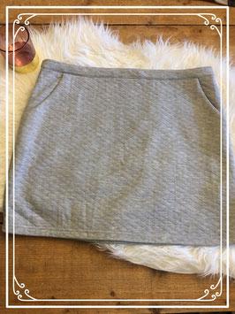 Nieuw: Grijs lichtgeruit rokje van Casual clothing - Maat L