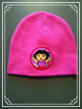 Lichtroze Dora mutsje - voor meisje van 2 jaar
