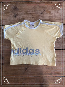 Geel tshirt merk Adidas - maat 86