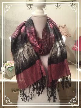 Paars-zwarte sjaal