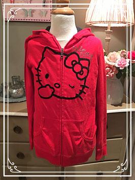 Nieuw: Hello Kitty rood vest met capuchon - maat 158-164