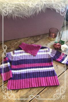 Gestreepte wollen trui van het merk Palomino - maat 98