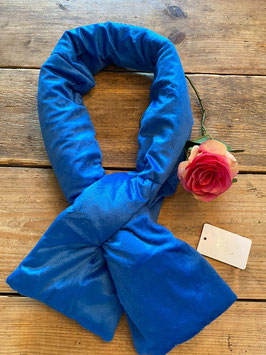 Nieuw: Yehwang - Scarf Velvet Puffer - Blue - 15 x 130 cm