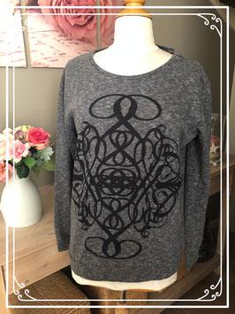 Grijze trui met mandala print van het Merk - Pieces - Maat - M