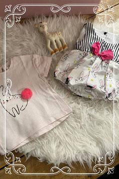 Leuk pakje en shirt met konijntjes van Zara - maatje 68