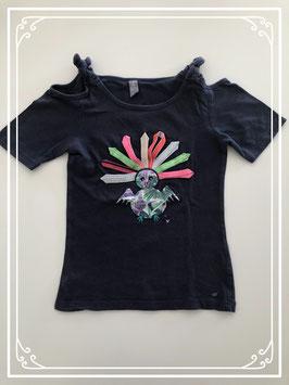 Zwart t-shirt merk Jilly - maat 128