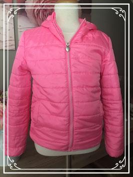 Opvallende roze jas van polyester - Maat 122/128