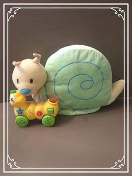 Knuffel van een slak en rups speeltje