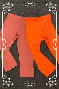 Nieuw! Oranje en bruine legging tot over de knie in maat 36