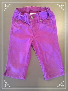 Paarse driekwart jeans van L.O.G.G. - maat 92