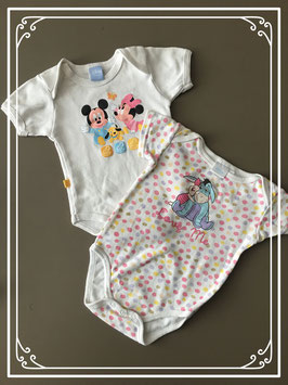 Set van 2 disney rompers - maat 62-68