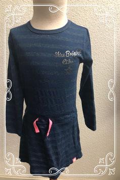 Leuk blauw jurkje van Dirkje Girls maat 104