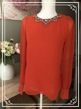 Oranje blouse van Zara - Maat XS