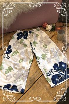 Witte broek met bloemenprint van Zeeman - Maat 146