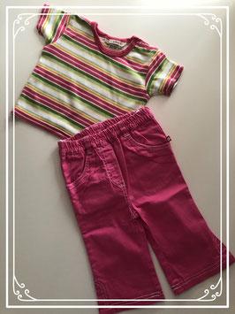 Zomers gestreepte kleding set - Maat 68