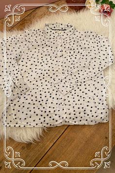 Witte stippel blouse van ZARA - Maat 140
