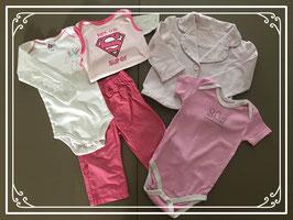 Roze meisjes kleding set - Maat 80
