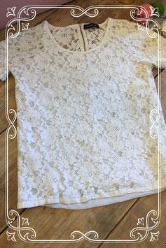 Wit kanten shirt van Modstrom - Maat S