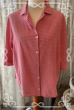 Rood-wit geruite blouse van Ulla Popken - maat 50-52